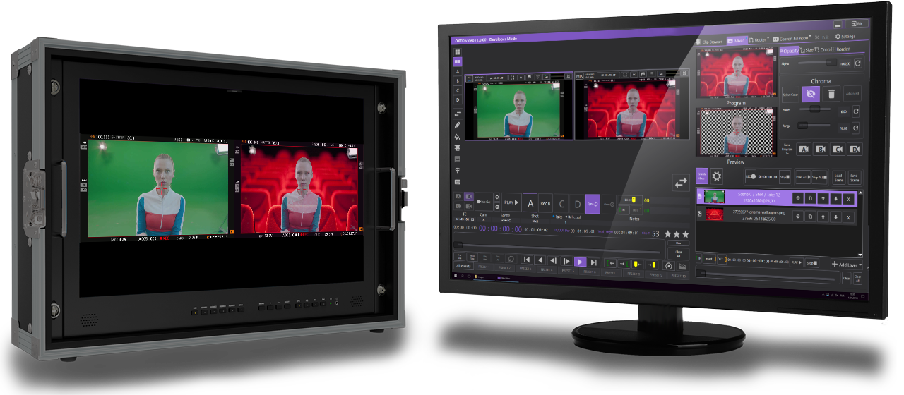 Video Mixer with SDI monitor